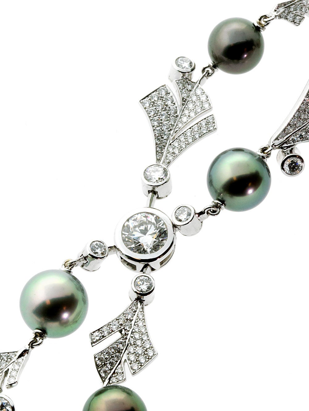 Magnificent Chanel Pearl Diamond White Gold Bracelet At