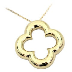 Van Cleef & Arpels Gold Alhambra Necklace