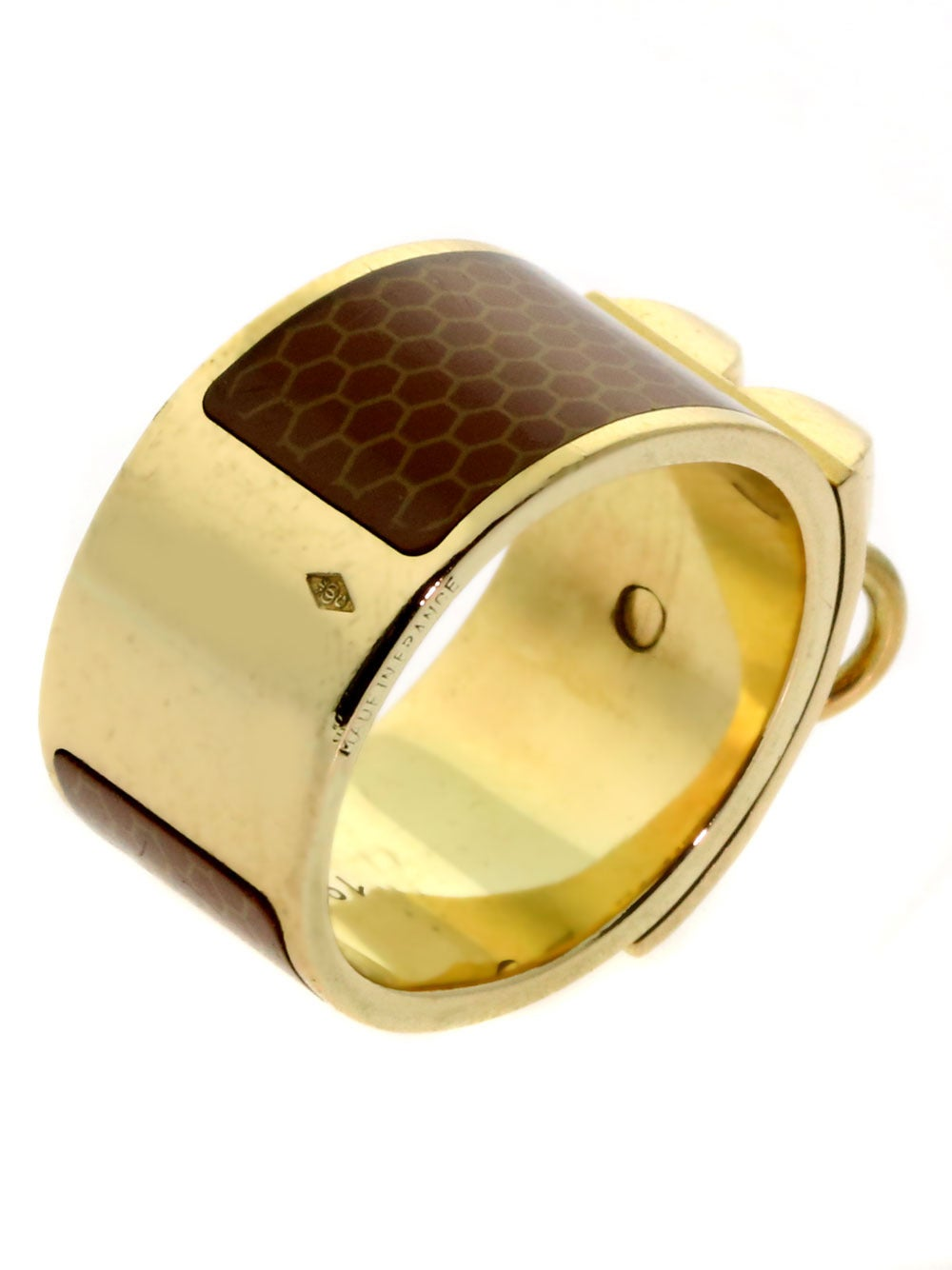 Hermes Collier de Chien Gold Ring In Excellent Condition For Sale In Feasterville, PA