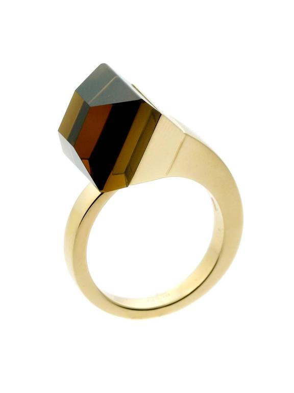Gucci Chiodo Golden Quartz Gold Ring 2