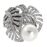 Chanel Pearl Diamond Gold Ring