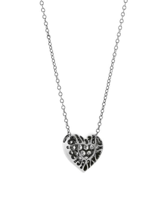 Women's Cartier Diamond Heart Platinum Necklace For Sale