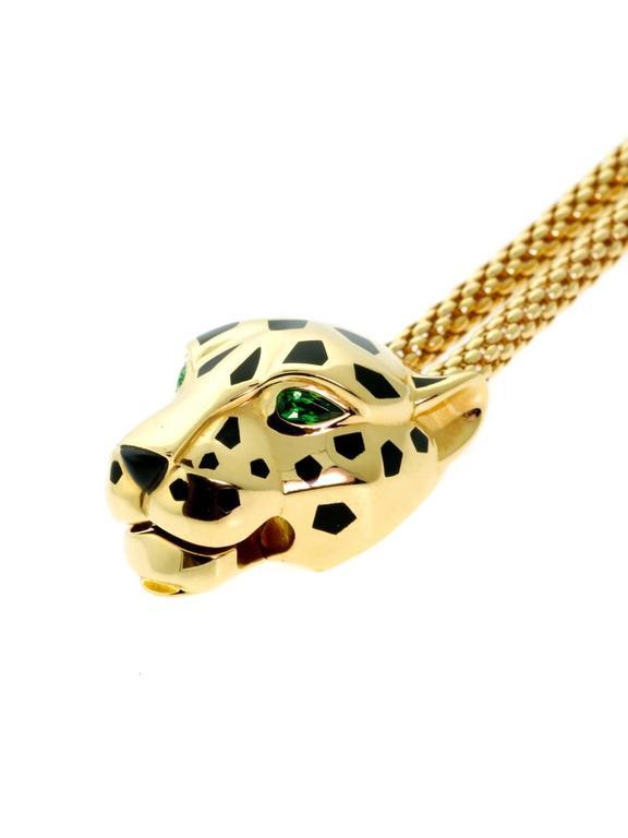 cartier panthere gold bracelet at 1stdibs