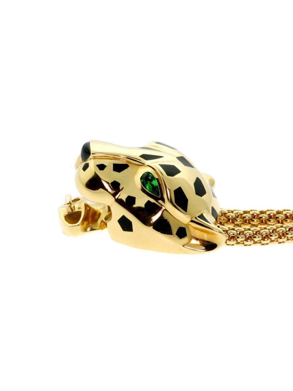 cartier panthere diamond gold bracelet at 1stdibs