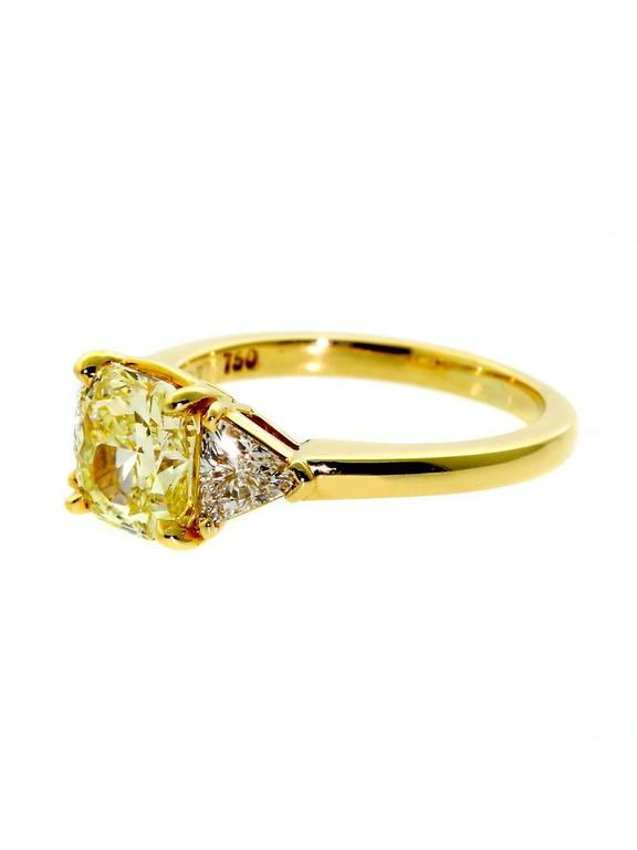 The Magnificent Centerpiece Of This Ring Is Its 2.10 Ct Starburst Cut Vvs1  Fancy Intense Yellow