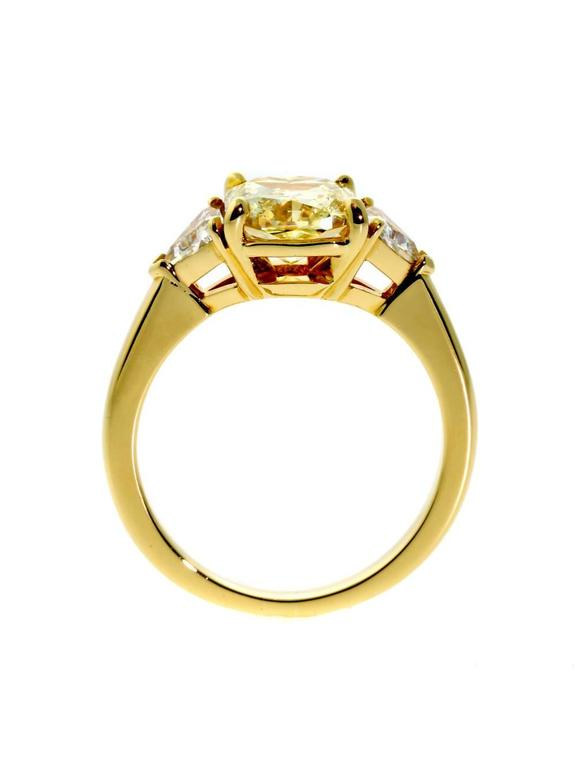 Cartier Fancy Intense Yellow Diamond Gold Ring at 1stdibs