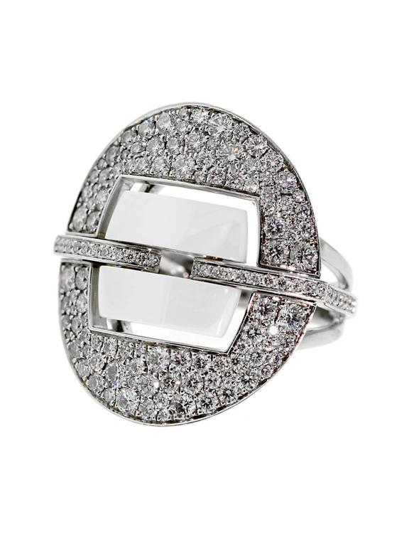 chanel ceramic diamond gold ring at 1stdibs. Black Bedroom Furniture Sets. Home Design Ideas