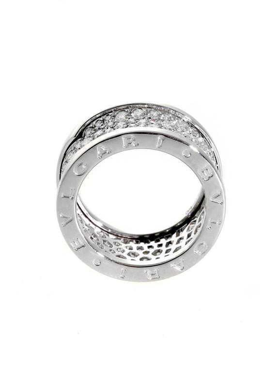 Bulgari Pave Diamond Gold B.zero1 Ring 3