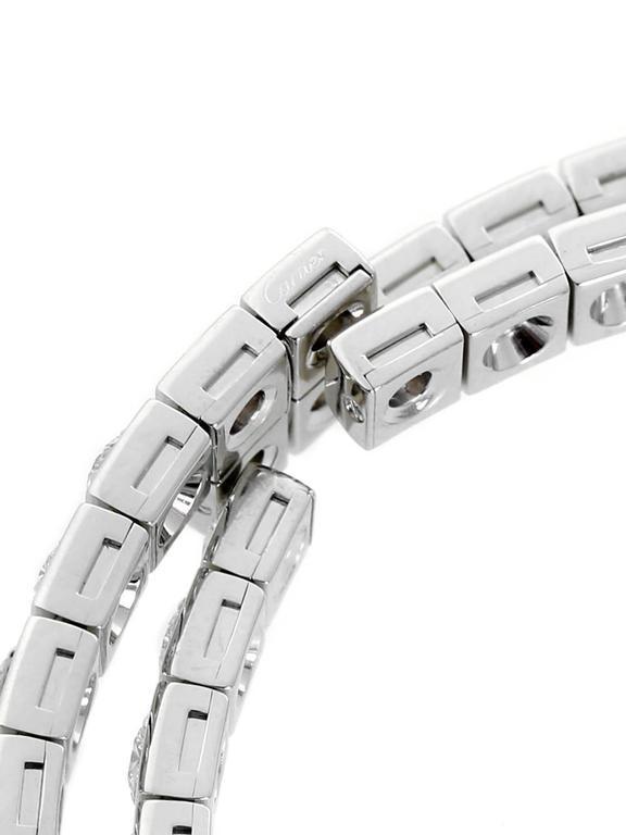 Cartier Diamond Gold Wrap Tennis Bracelet For Sale 1