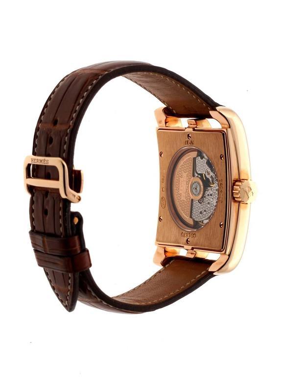 Cape Cod Rose Part - 40: Hermes Rose Gold Cape Cod Limited Edition Wristwatch 2