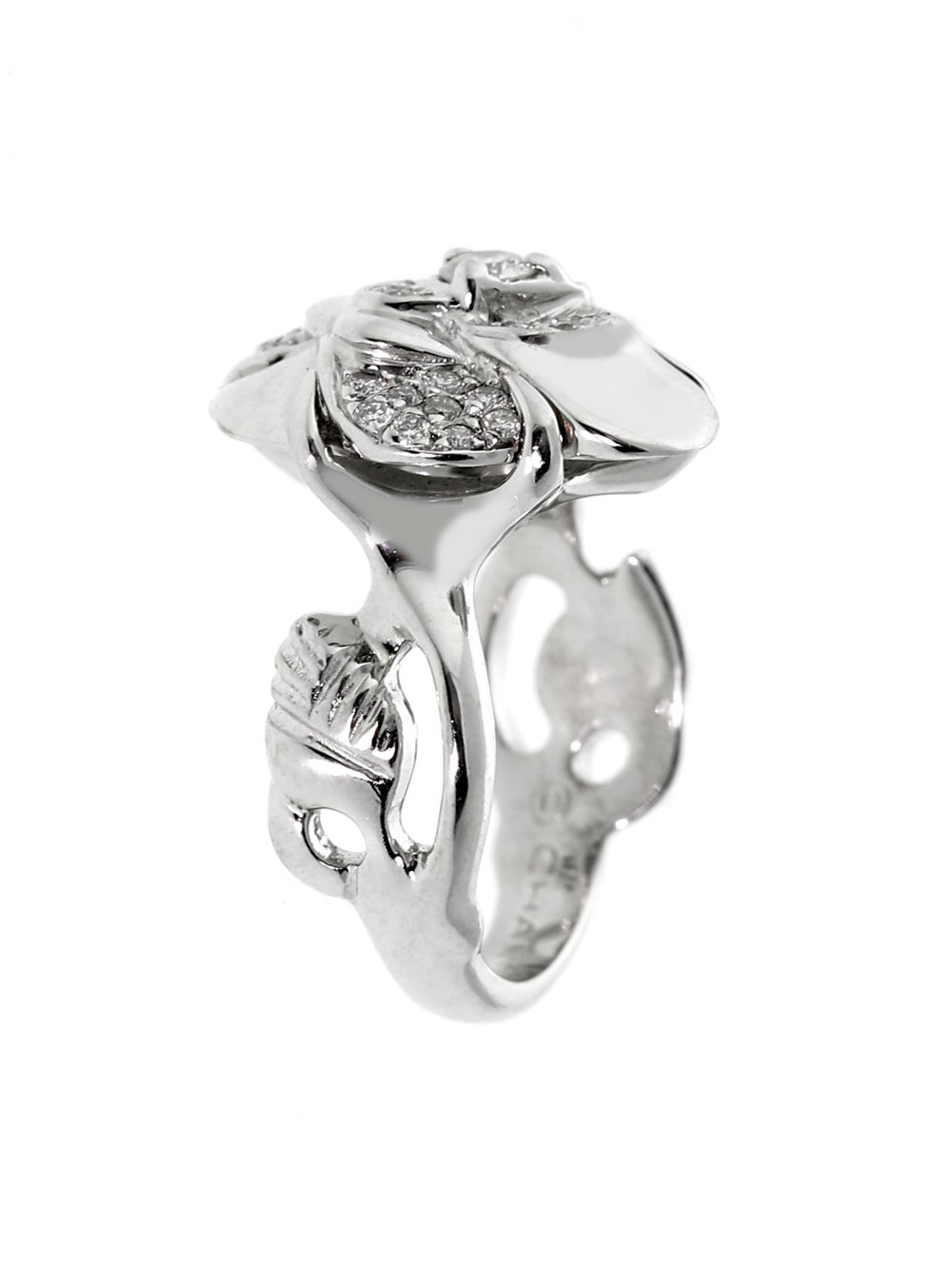 camellia profil ring profile gold de estate chanel white rings p diamond