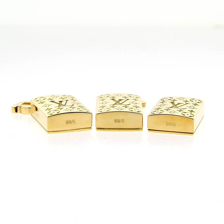 Louis Vuitton Limited Edition Mahjong Tile Gold Set In As New Condition For Sale In Feasterville, PA