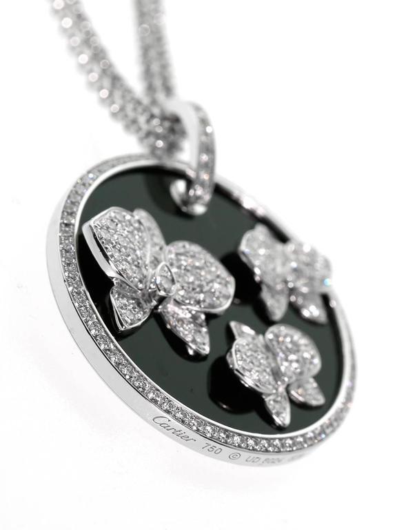 3fd2d6d27f7ef Cartier Orchid Diamond Onyx Gold Necklace