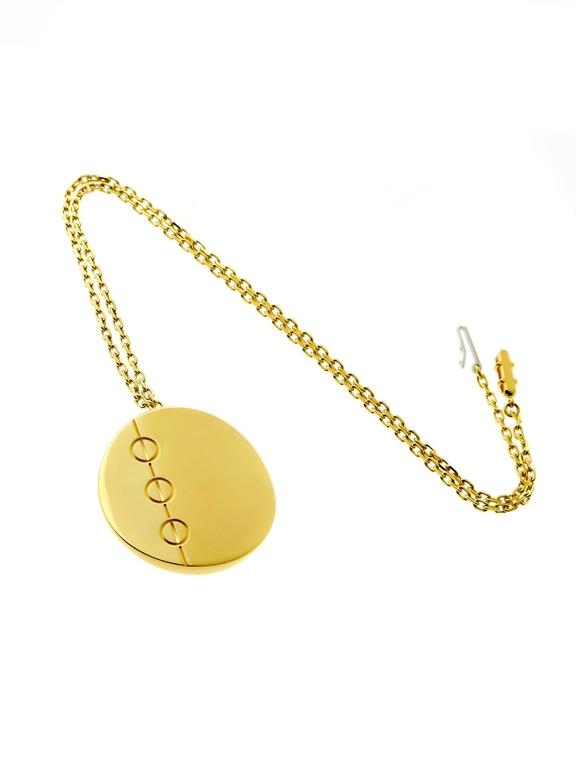 Cartier Love Jumbo Gold Necklace In Excellent Condition For Sale In Feasterville, PA