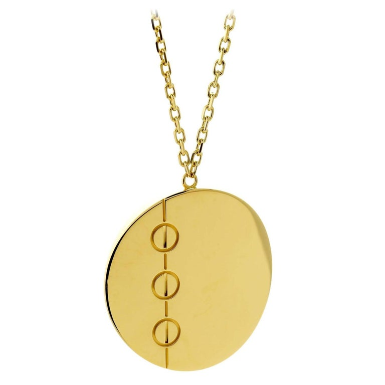 Women's Cartier Love Jumbo Gold Necklace For Sale