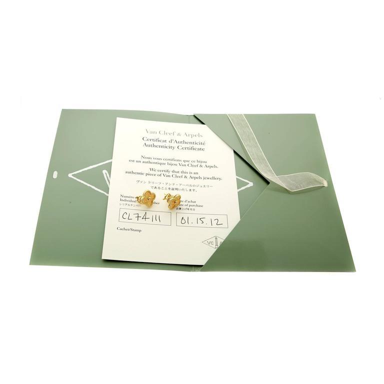 Van Cleef & Arpels Vintage Alhambra Gold Earrings 3