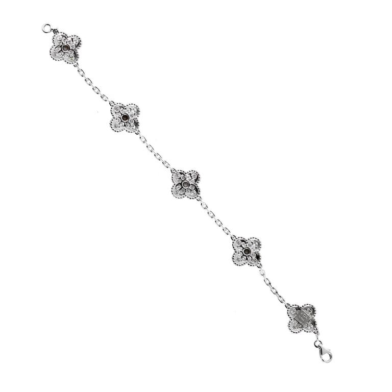 Van Cleef and Arpels Vintage Alhambra Diamond Bracelet at 1stdibs