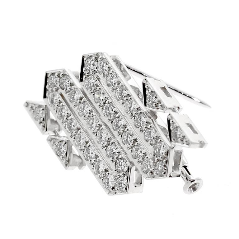 Cartier Platinum Diamond Brooch Necklace 2