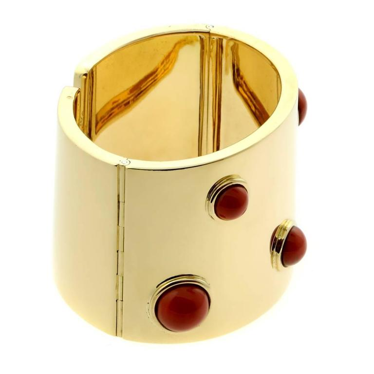 Fred of Paris Coral Gold Cuff Bracelet 2