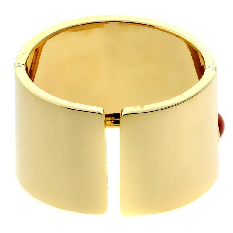 Fred of Paris Coral Gold Cuff Bracelet 3