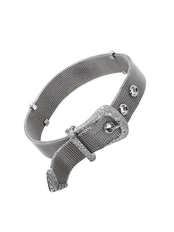 Tiffany & Co. Diamond Platinum Buckle Bracelet 4