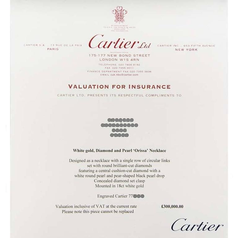 Rare Cartier Orissa Diamond and Pearl Necklace For Sale 2