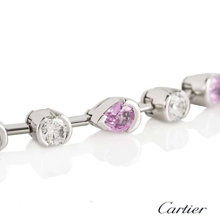 Cartier Meli Melo Bracelet Diamond and Pink Sapphire In Excellent Condition For Sale In London, GB
