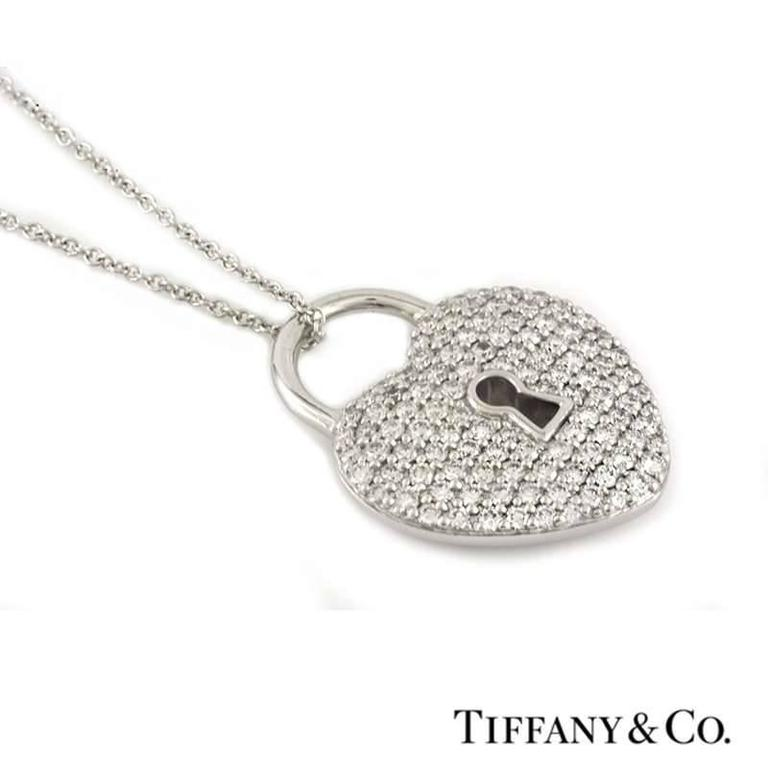 02cc720d6 A stunning diamond heart pendant from the Tiffany Locks collection by  Tiffany & Co.