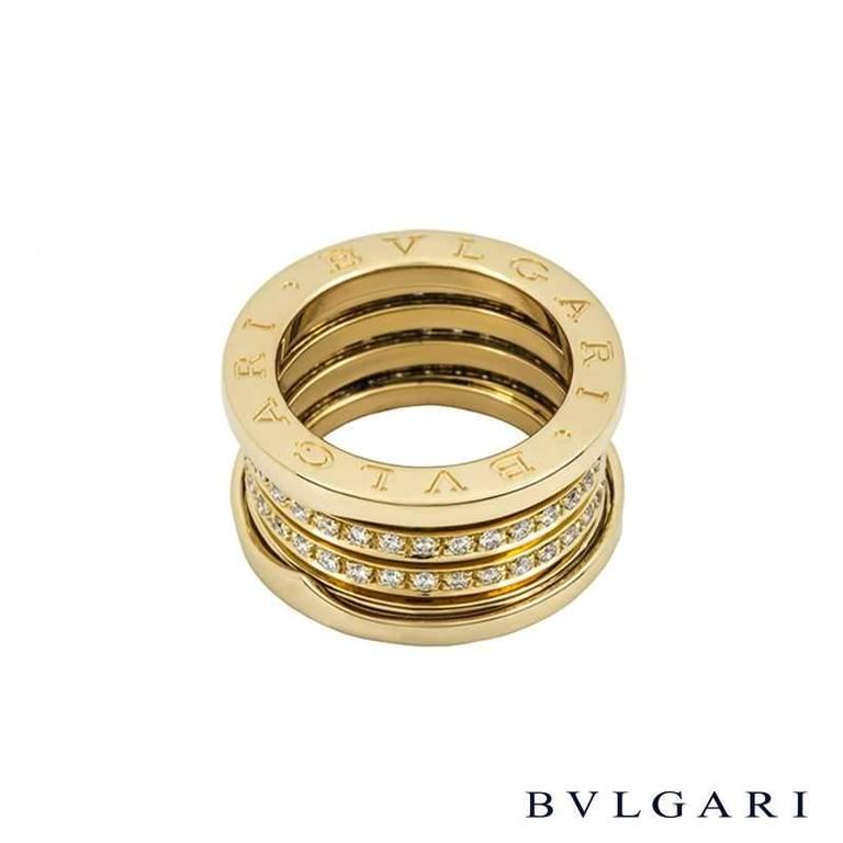 signature bulgari bzero1 ring diamond and gold 2