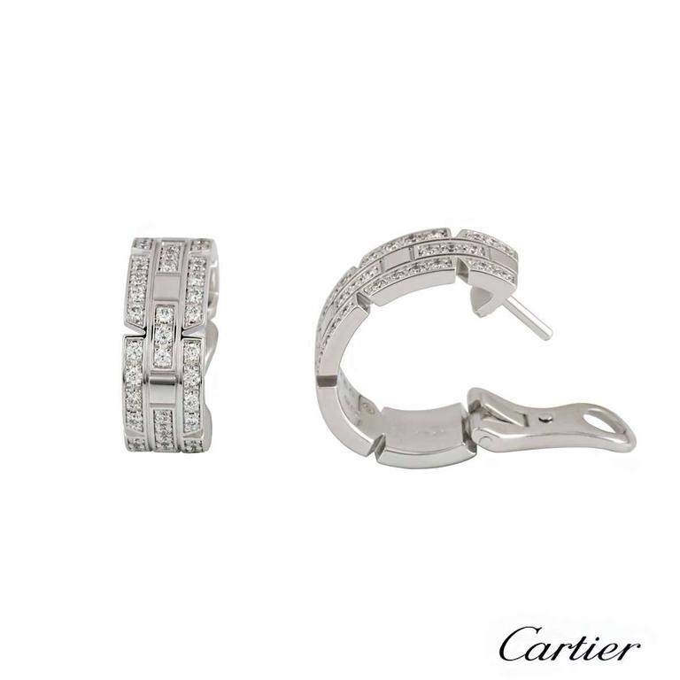 Cartier Links and Chains Maillon Diamond Earrings 3