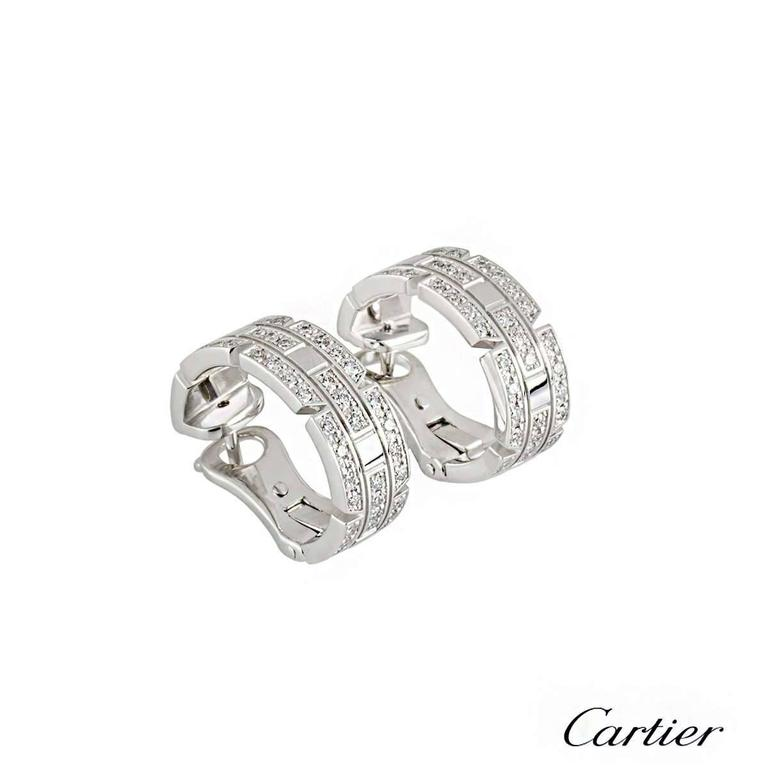 Cartier Links and Chains Maillon Diamond Earrings 2