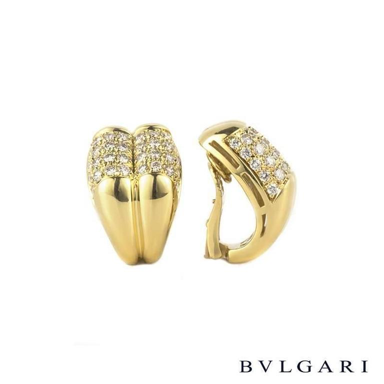 Bulgari 3.00 Carat Diamond Clip on Earrings In Excellent Condition For Sale In London, GB