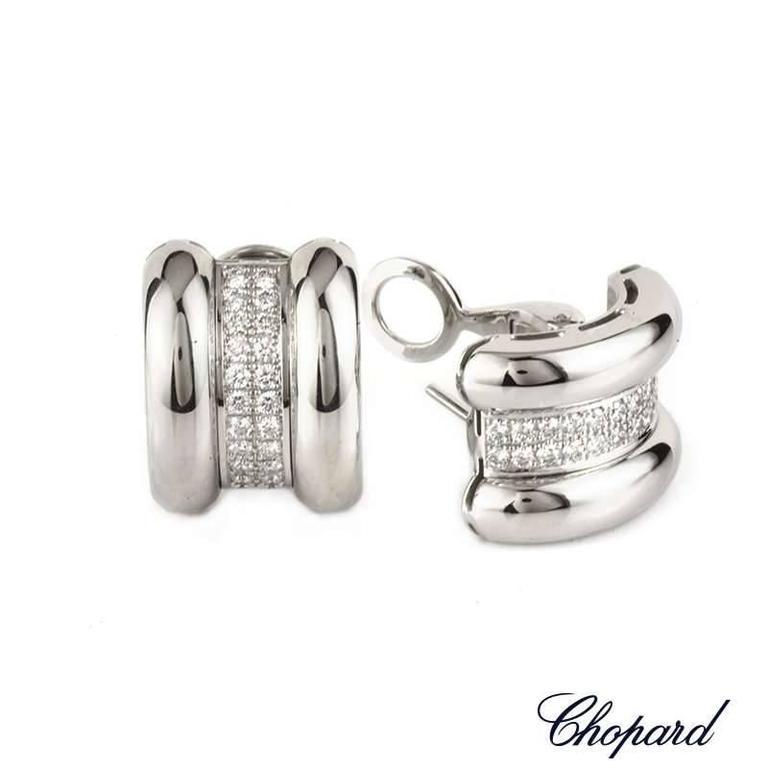 Chopard Diamond Pave Set Earrings .92 Carat 2