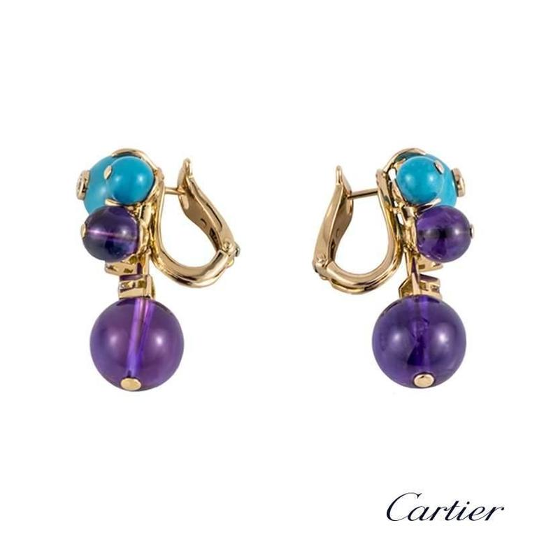 Cartier Les Delices Multi Gemstone Earrings 2