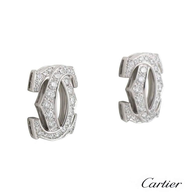 Cartier C de Cartier Diamond Earrings 2