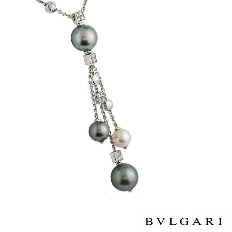 Bulgari Lucea Diamond and Pearl Necklace 3