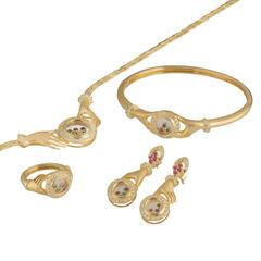 Diamond, Yellow Gold and Multi-Gemstone Jewellery Suite