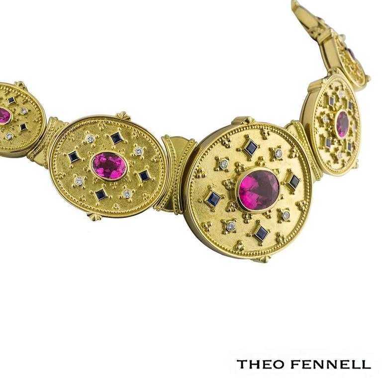 Theo Fennell Diamond Sapphire and Tourmaline Jewellery Suite 2
