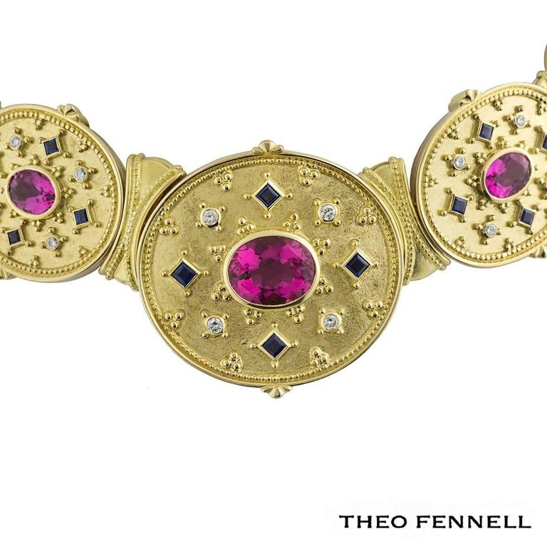 Theo Fennell Diamond Sapphire and Tourmaline Jewellery Suite 3