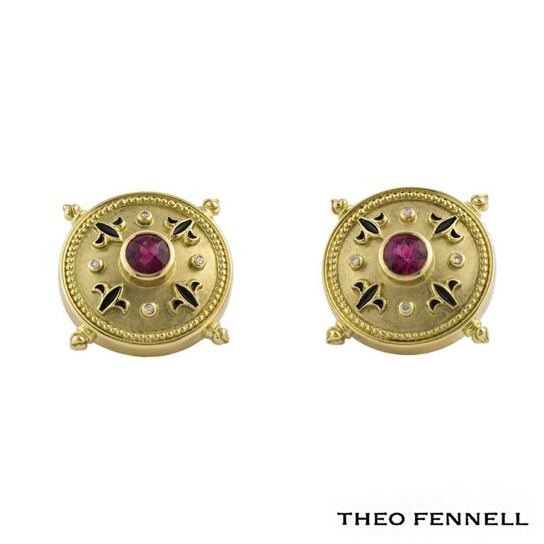Theo Fennell Diamond Sapphire and Tourmaline Jewellery Suite 4