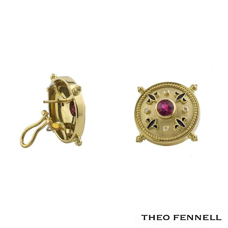Theo Fennell Diamond Sapphire and Tourmaline Jewellery Suite 5