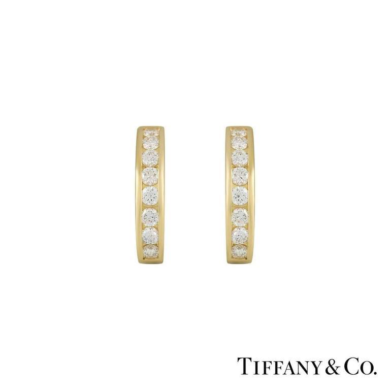 Tiffany & Co. Diamond Set Hoop Earrings 0.96 Carat 2