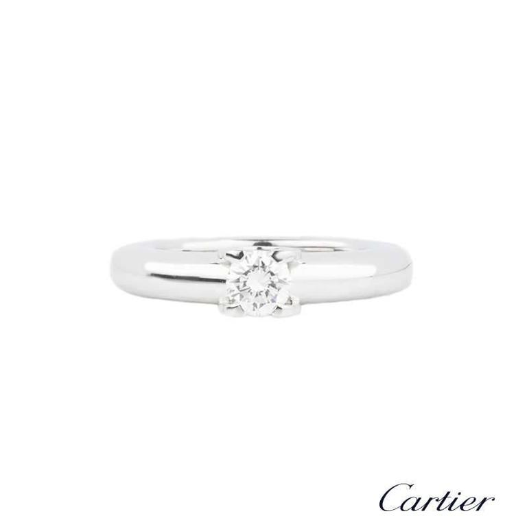 Cartier C de Cartier Diamond Ring .33 Carat In Excellent Condition In London, GB