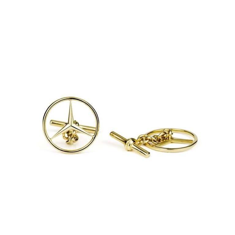 Mercedes benz emblem cufflinks for sale at 1stdibs for Mercedes benz 18k gold ring