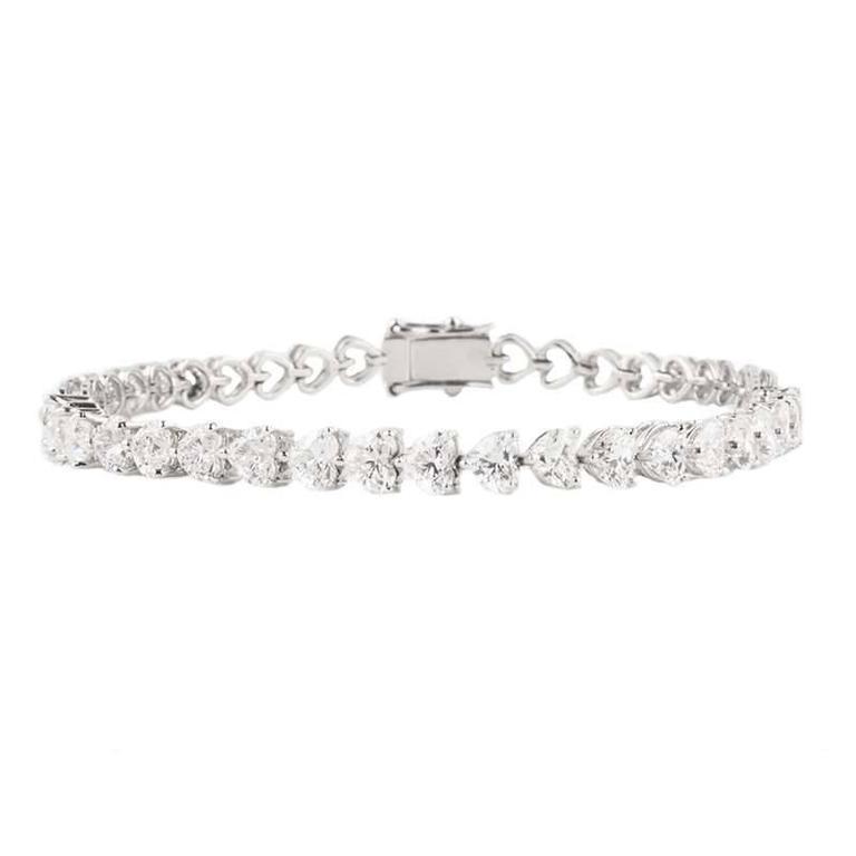 Diamond Heart Line Bracelet 5.15 Carat