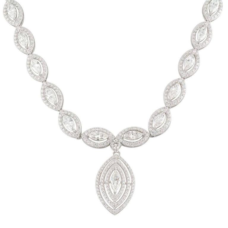 Exquisite Marquise Cut Diamond Necklace