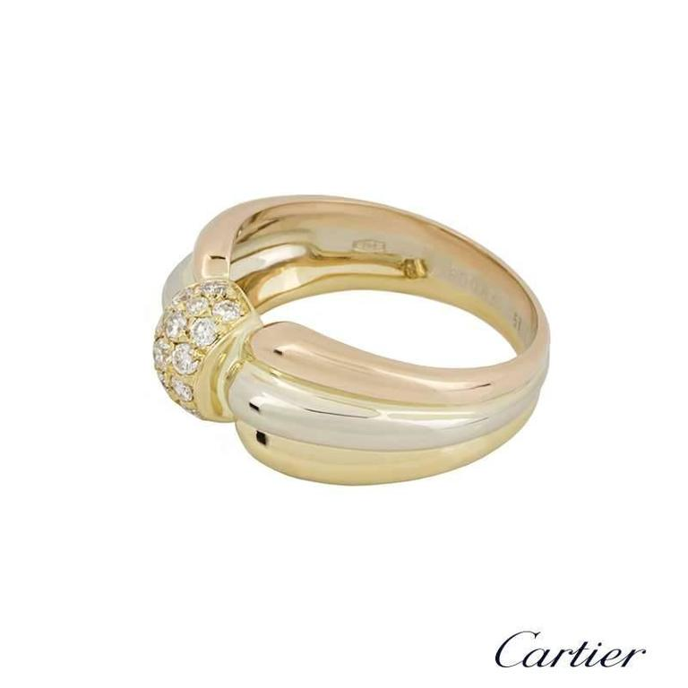 Cartier Trinity Diamond Dress Ring 3