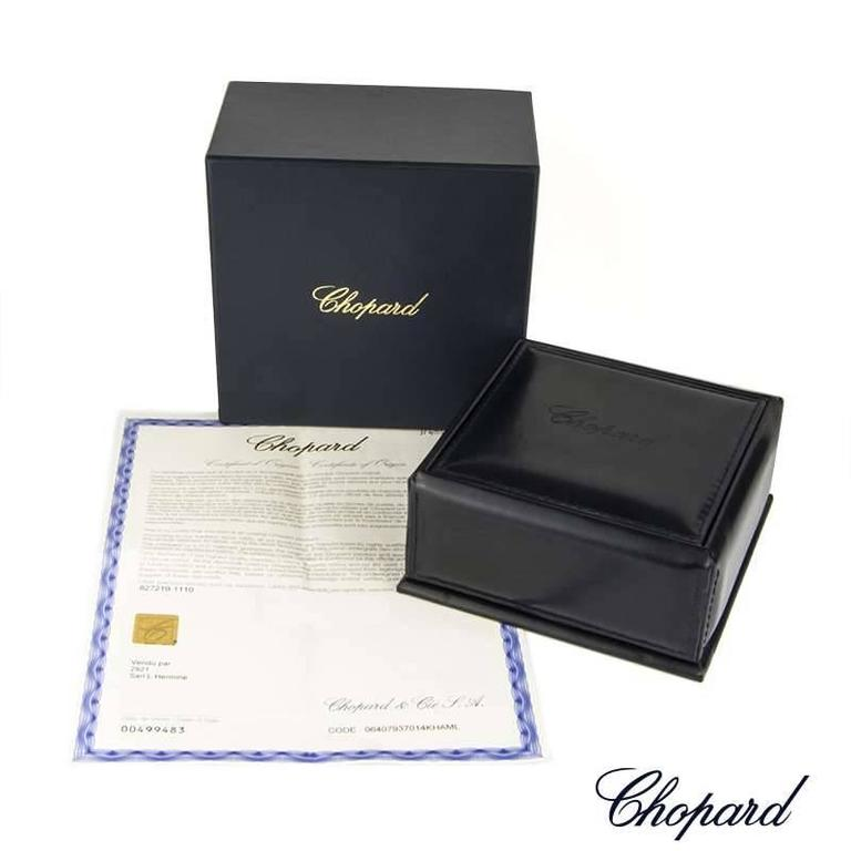 Chopard Happy Diamonds White Gold Ruby Earrings In Excellent Condition For Sale In London, GB