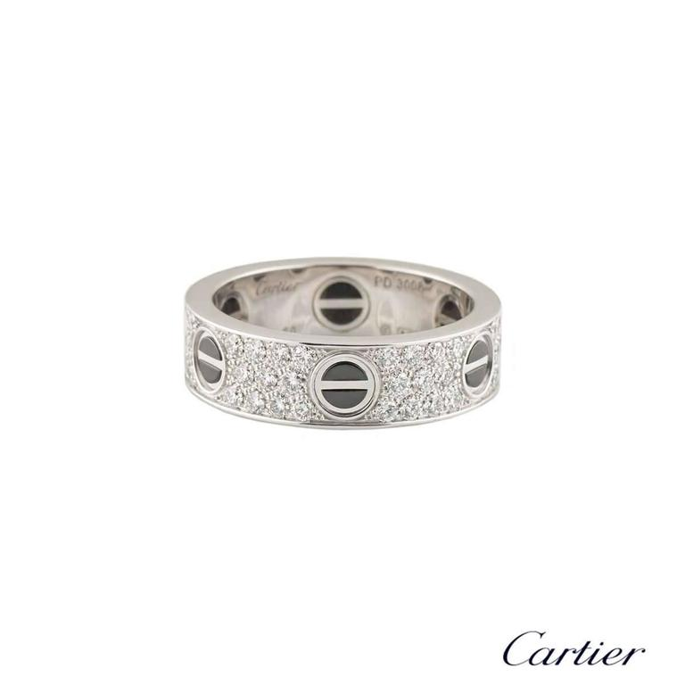 cartier ceramic and ring at 1stdibs
