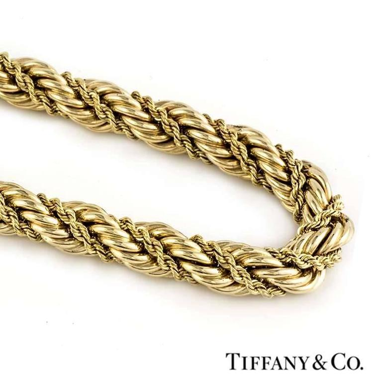 7ac9d3e79 Tiffany & Co. Rope Necklace In Excellent Condition For Sale In London, ...